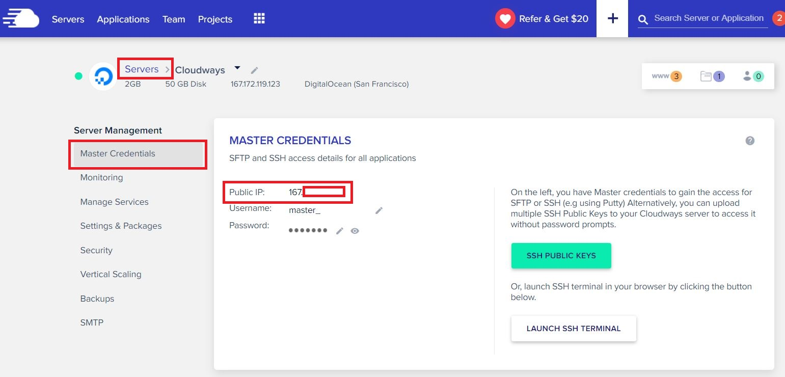 How to Find Your Cloudways IP Address